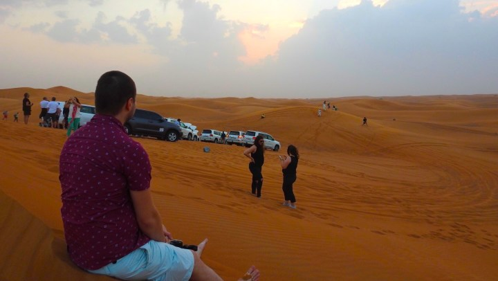 Red Dune Bashing in the Desert of Dubai, United Arab Emirates