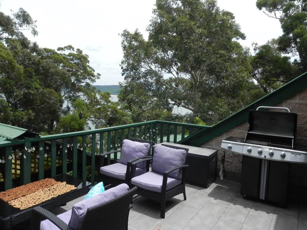 Entertainment Deck at Sunset Apartment with fabulous views over the bay