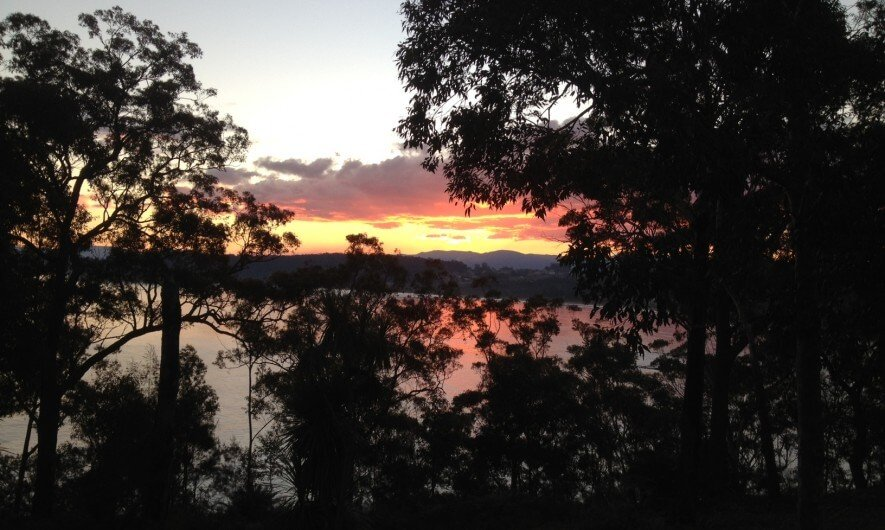 Sun sets over Batemans Bay