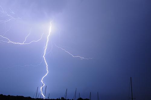 lightning in long beach