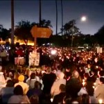 Candlelight vigil for the family killed by DUI driver on Halloween night