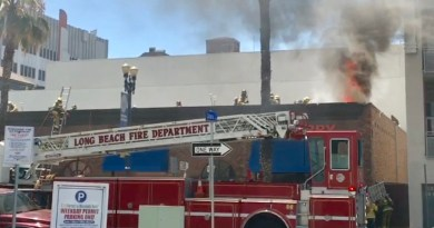 VIDEO: Long Beach Fire Department battle structure fire in Downtown Long Beach