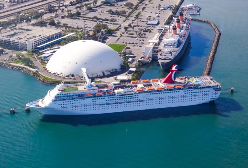 Carnival Cruise Line And City Of Long Beach Start Renovations At - Long beach cruise ship schedule