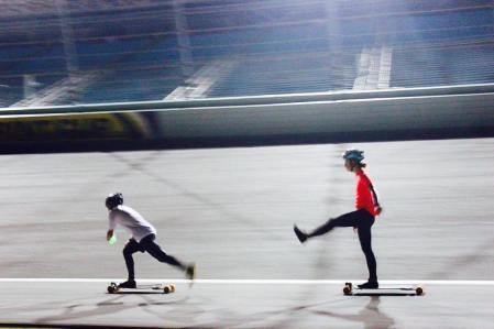 @kyleyanx leading @harrison_nyc at this year's Miami Ultra Skate