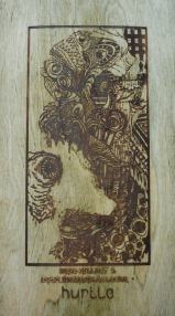 Hurtle Skateboards Stained Maple Graphic Overall