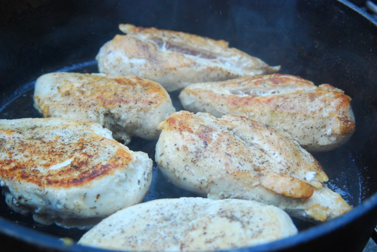 Chicken in the dutch oven!