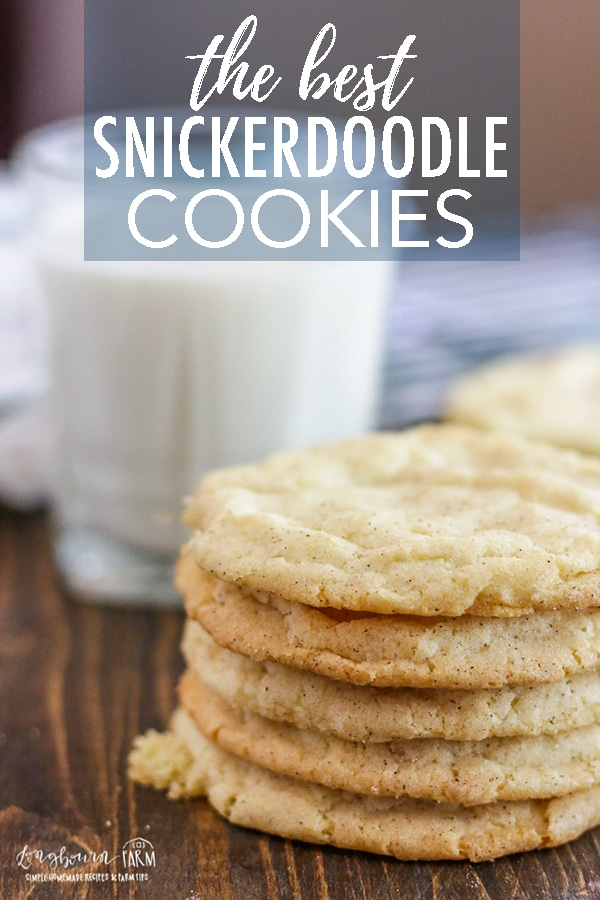 Get the best snickerdoodle cookie recipe out there! This is a family favorite that I have been making for years. Perfect cinnamon sugar cookie goodness every time! #longbournfarm #snickerdoodle #snickerdoodlerecipe #cookierecipe #baking #bakingday #snickerdoodlecookie #easycookierecipe #snickerdoodlecookierecipe #bakingcookies #howtobakecookies