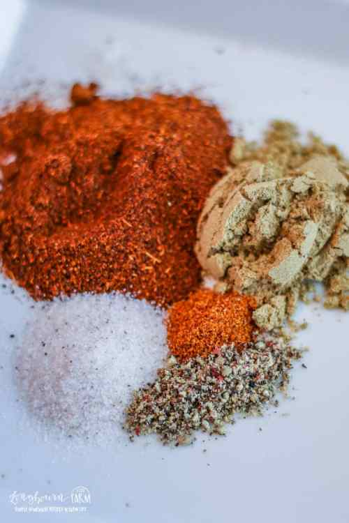 Spices for homemade chili recipe.