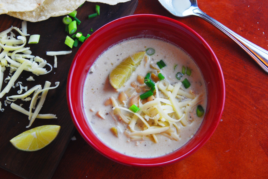 Crock Pot Creamy White Chicken Chili