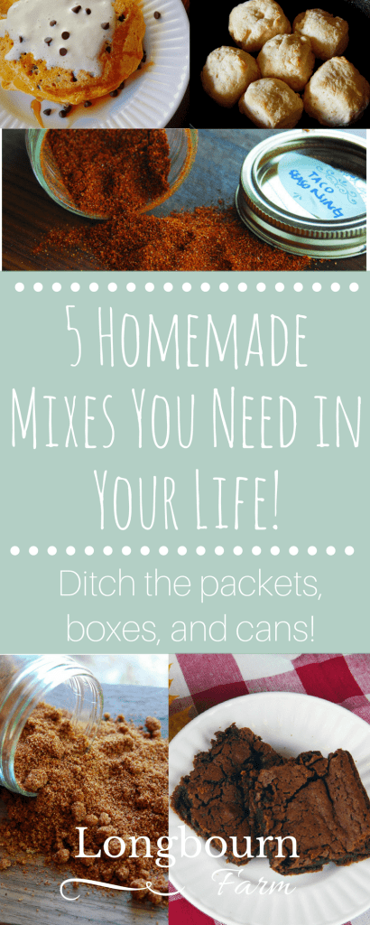 Homemade mixes are a fantastic way to eat a little healthier and gain massive flavor. Click for 5 stellar homemade mix recipes + other homemade food tips!