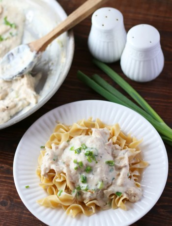 Creamy Chicken Over Noodles!