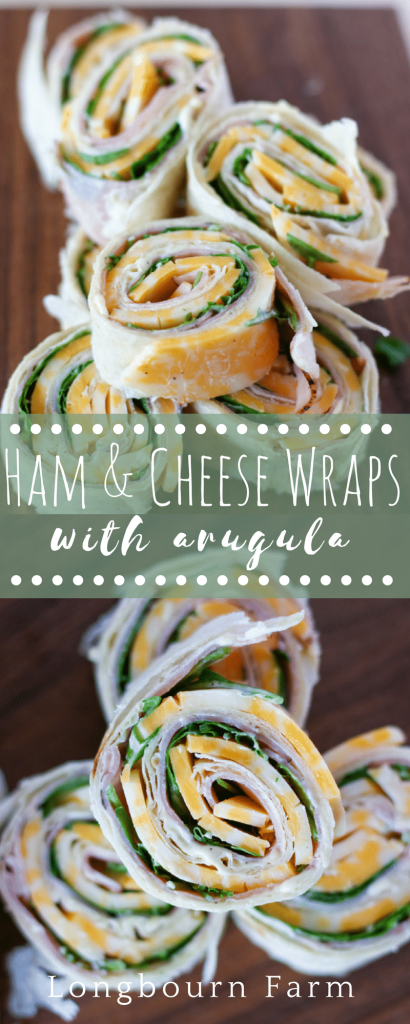 These easy ham and cheese wraps make the perfect quick lunch or a delicious appetizer that is sure to please everyone! Kid and adult approved!