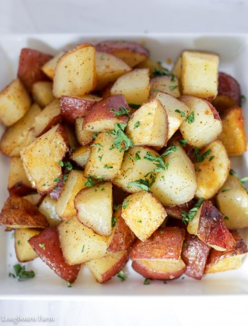 Crispy oven roasted potatoes!