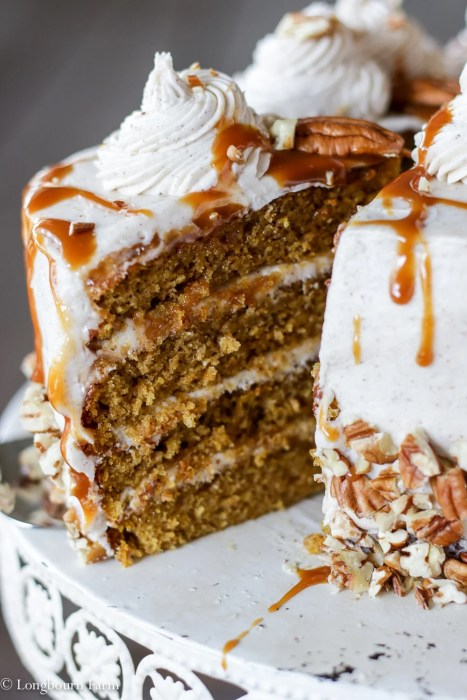Layered Pumpkin Spice Cake Recipe + How-To