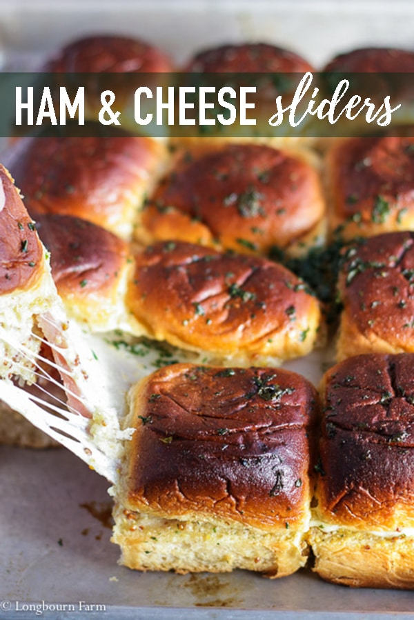 Ham and cheese sliders are a fast and delicious way to get a meal done quick or even a great appetizer for game day or party day. Packed with flavor and ultra cheesy! #ham #cheese #hamandcheese #sliders #quickmeal #easydinner #sandwich #cheesesandwich #hamsandwich #cheeseysliders #hamsliders #hamandcheesesliders #homemade #fromscratch
