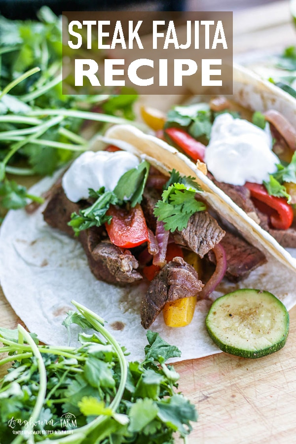 This truly isthe best steak fajita recipe! These steak fajitas are easy to make and packed with delicious flavor in every bite! #longbournfarm #steak #fajita #steakfajita #beeffajita #chickenfajita #veggiefajita #veggies #fajitaseasoning #mexicanfood #texmex #steakfajitarecipe #beeffajitarecipe