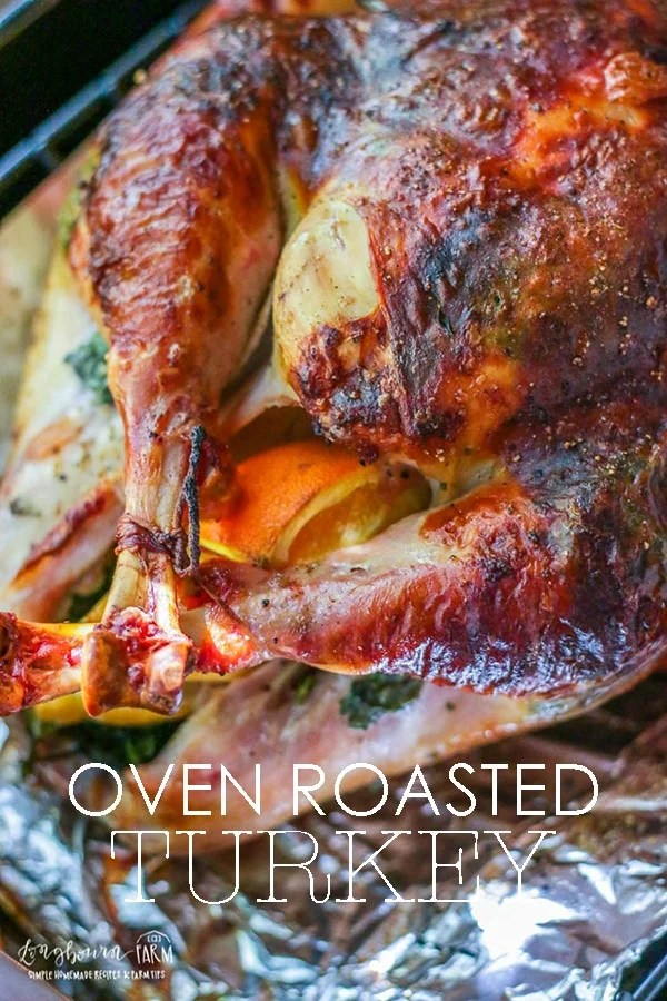Learn everything you need to know to make this Thanksgiving turkey perfect. How to season a turkey, to roast a turkey in the oven and how to tell when the turkey is done. #thanksgivingturkey #thanksgivingturkeyrecipes #turkeyrecipesoven #roastturkey #roastturkeyrecipes #longbournfarm #thanksgivingrecipes