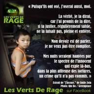 Verts de rage 5 - citation Emile Zola