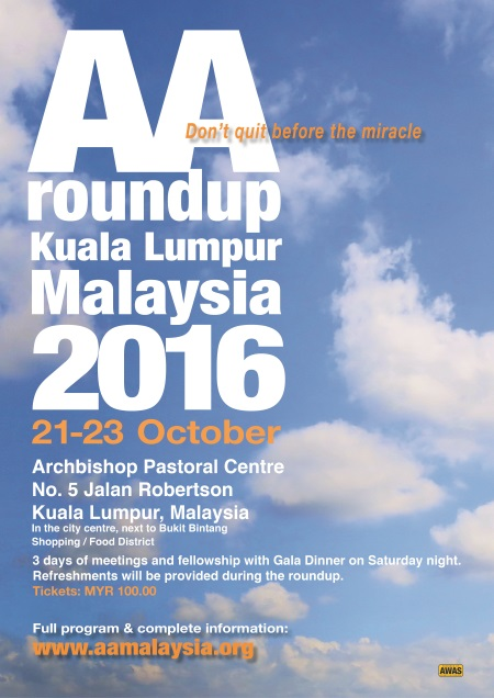 4th Annual Malaysia International AA Roundup