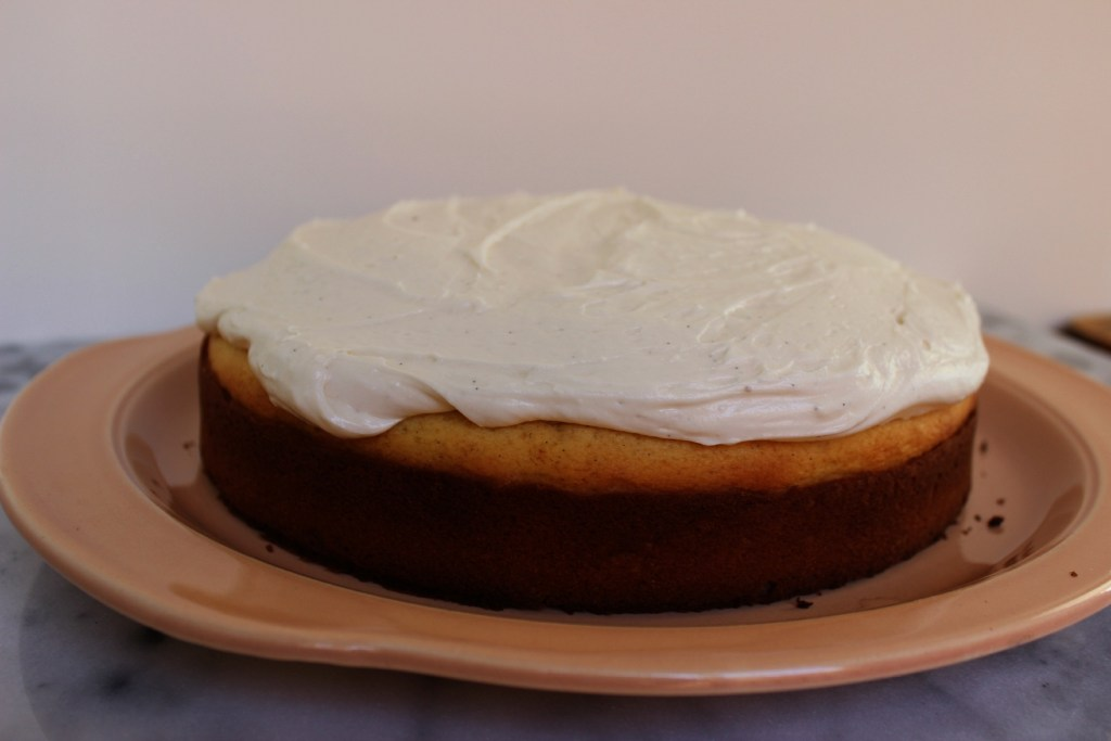 Lemon Pound Cake w/Vanilla Bean Buttercream