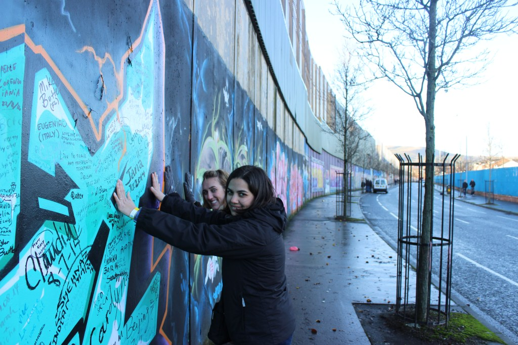 Naiomi and I at the Peace Wall.