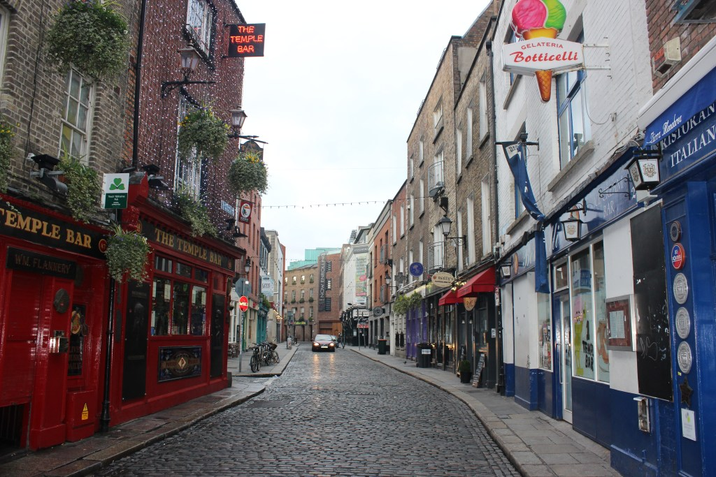 Street in view in the Temple Bar area.