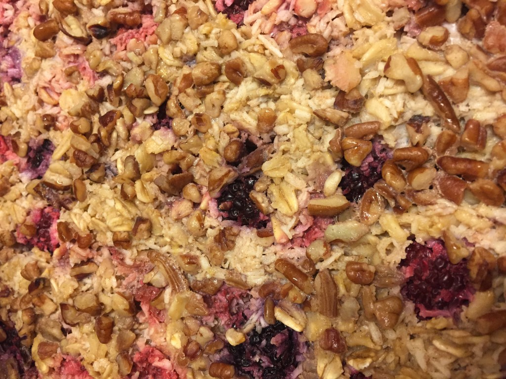 Berry Coconut Baked Oatmeal