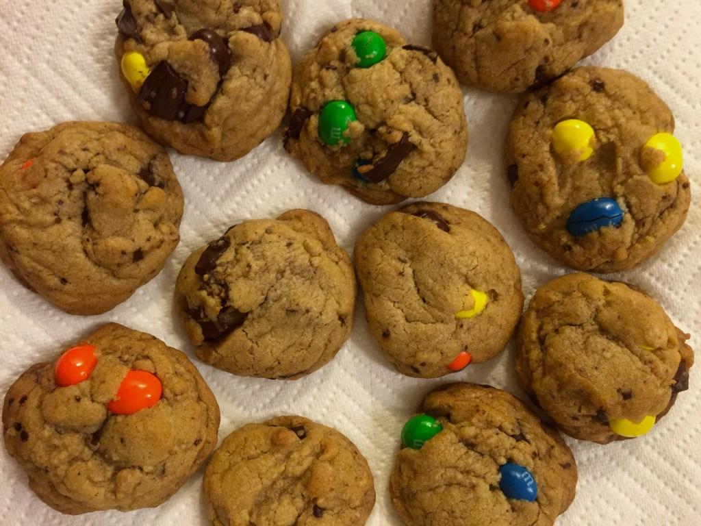 Chocolate Chunk Peanut M&M Cookies