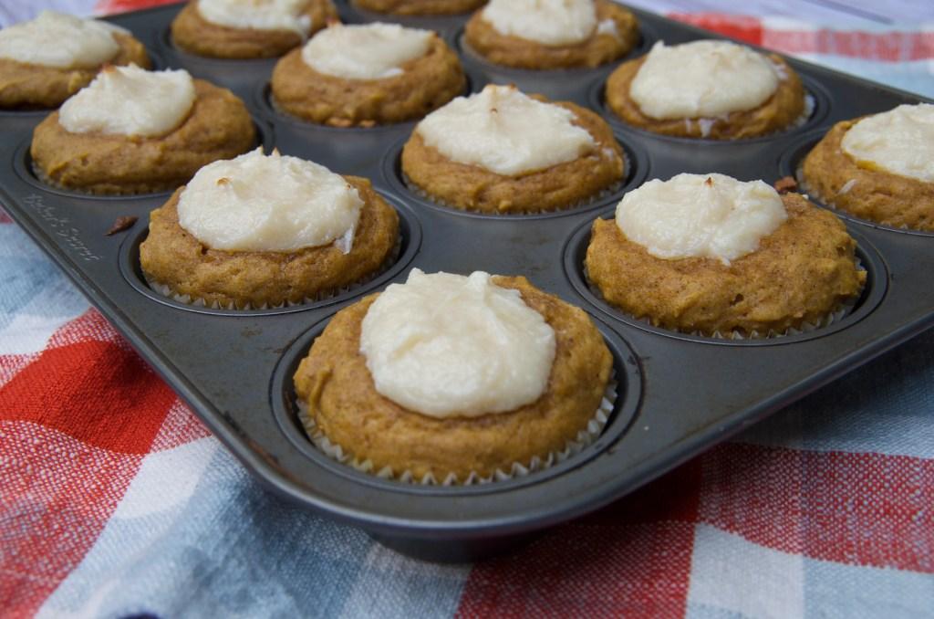 Pumpkin Cream Cheese Muffins | longdistancebaking.com