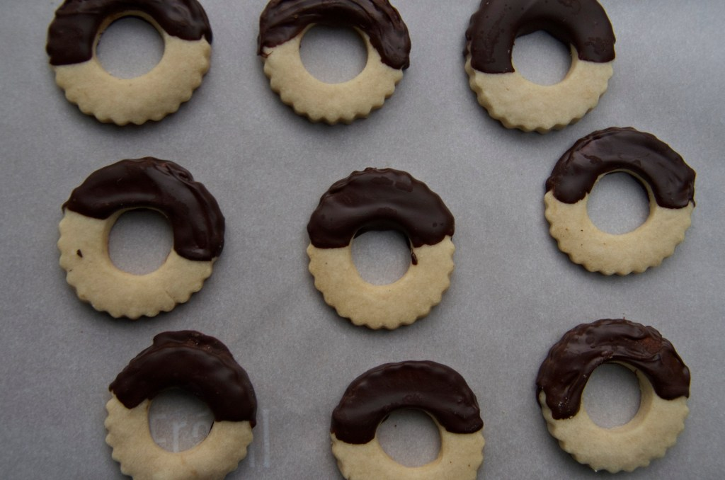 Chocolate Dipped Shortbread Cookies | longdistancebaking.com