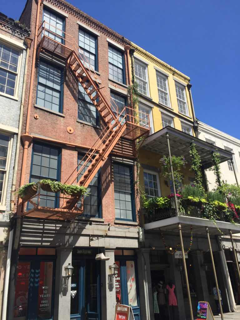 New Orleans had the coolest buildings and apartments!
