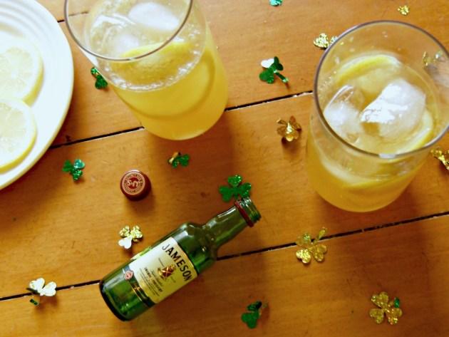 Irish Gold St. Patrick's Day Cocktail   longdistancebaking.com