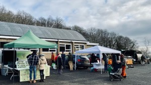 Stalls at the farmers market