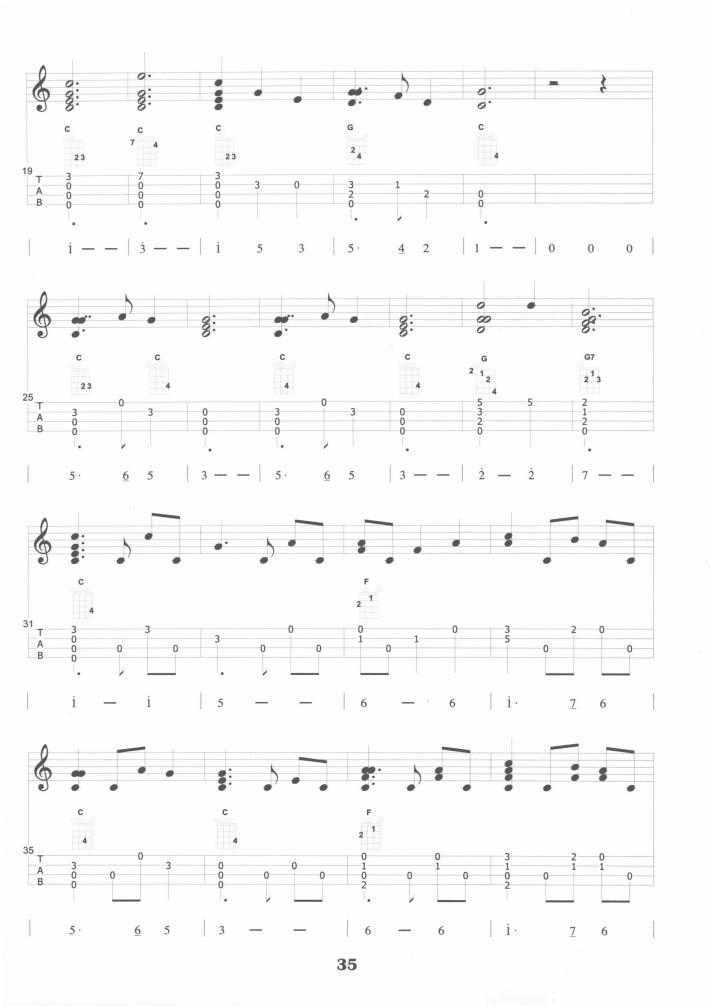 Ukulele slient night tab chords 尤克里里 平安夜 指彈譜 | εїз.Longer Vogue.ஐ