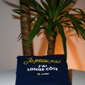 Tee-shirt Femme «Je peux pas j'ai longe-côte» Bleu Marine, Anfibi