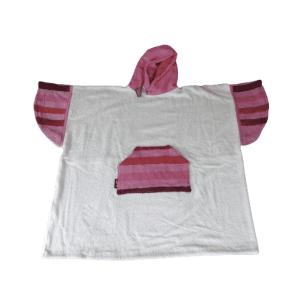 Poncho Anfibi  100% Upcyclé « Pink Stripes » modèle unique