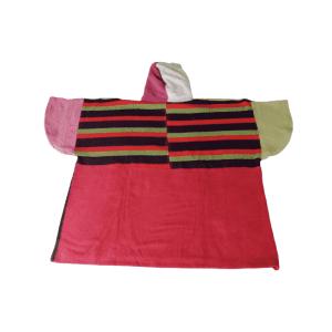 Poncho Anfibi  100% Upcyclé « Color Stripes » modèle unique