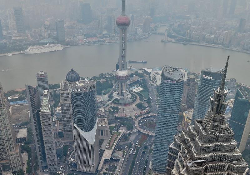 Air pollution in Shanghai.