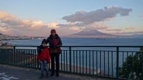 And that's us- mom and son, revisiting Napoli in 2014.