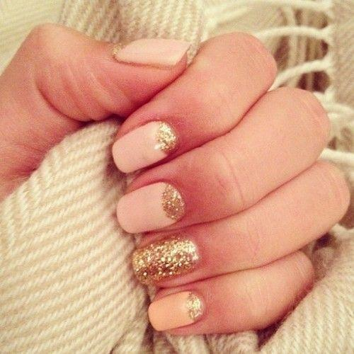 Elegant Peach Nails