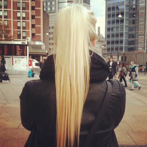 High Blonde Ponytail Long Hairstyles How To