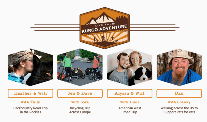 We were among 150 contestants to win four spots in Kurgo's Live You Adventure contest. Check out our fellow winners and follow along their journeys as well.