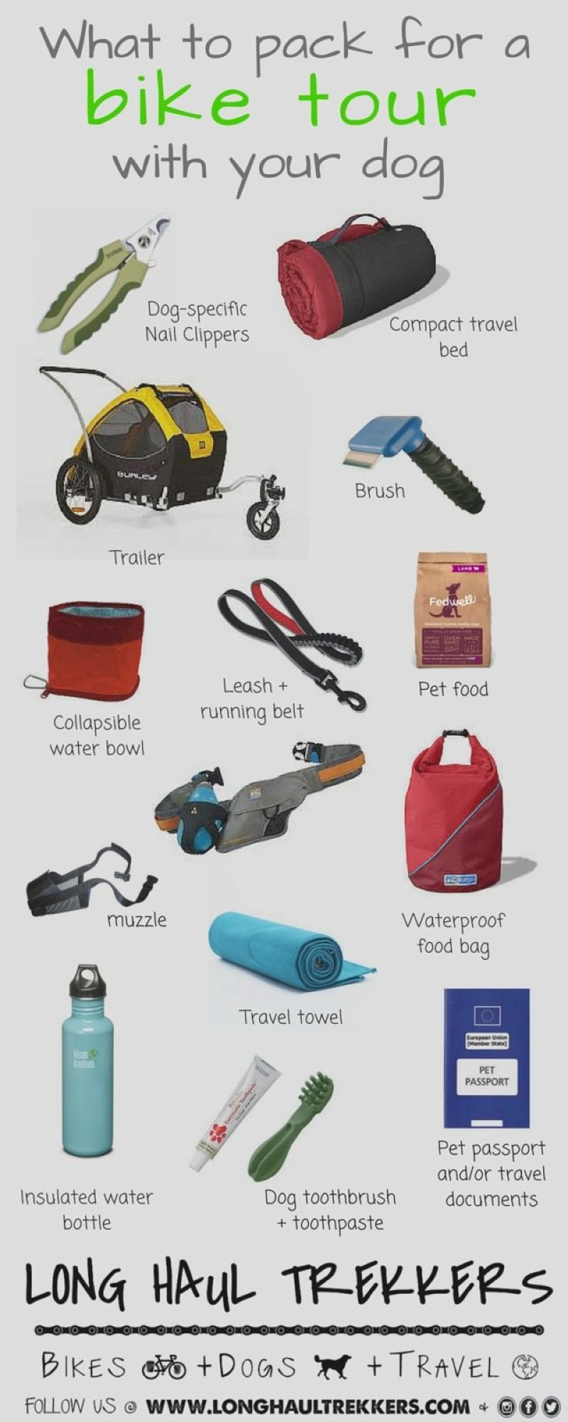 What to Pack for a Bike Tour with Your Dog