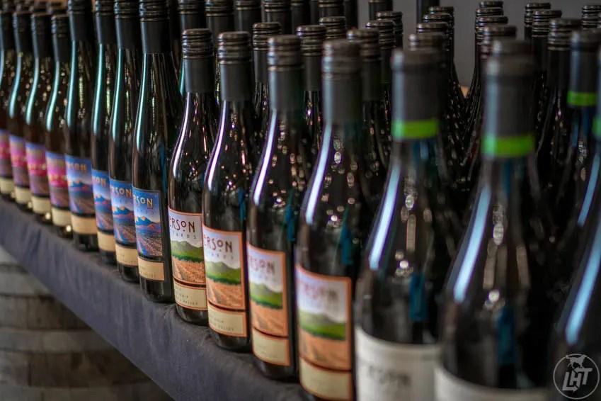Wine bottles from Emerson Vineyards