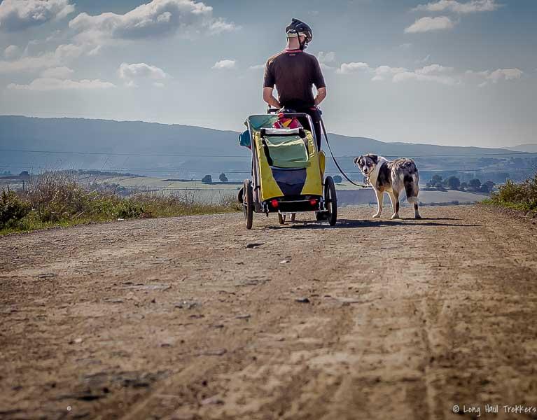 The Burley Tailwagon Bike Trailer in Bosnia.