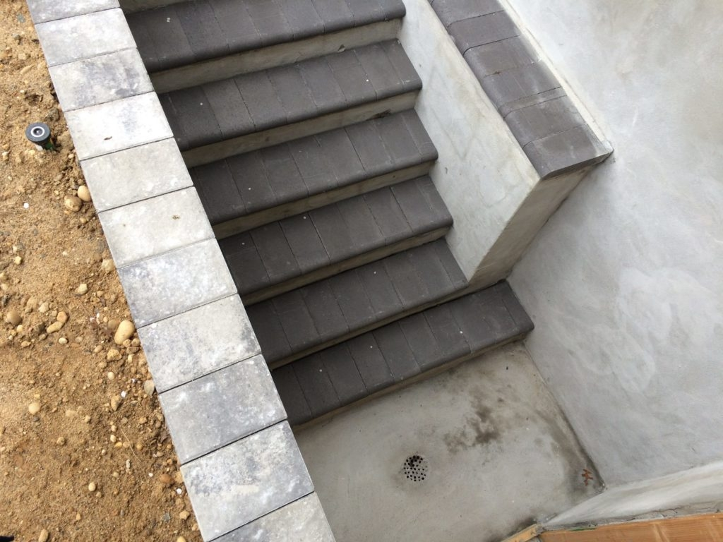 Outdoor Basement Entrance Concrete Stairwells Long Hill Masonry | Outside Stairs To Basement | Outside | Brick | Beautiful | Underground | Enclosed Porch