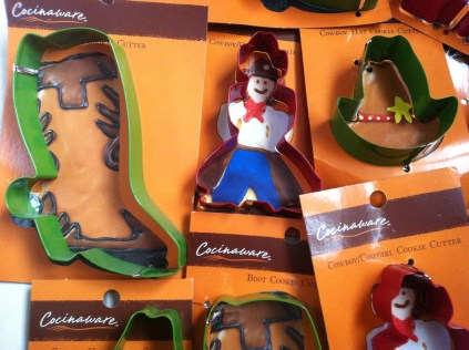 cowboy themed cookie cutters - too cute!