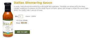 Wildtree Italian Simmering Sauce