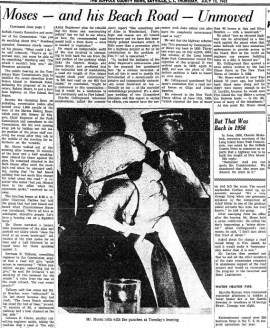 Hearing on the Road. Suffolk County News, July 12, 1962.