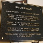 Shoreham Receives Suffrage Movement Recognition!